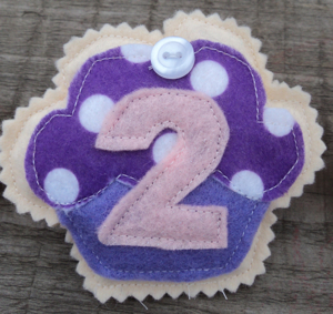 Birthday Badge two Purple