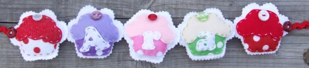 Cupcake Name Banner Ara