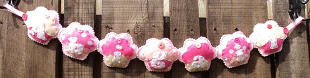 Cupcake Name Banner Abigail