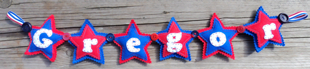 Blue Star Name Banner - Gregor