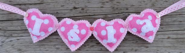 pink hearts Name Banner isla