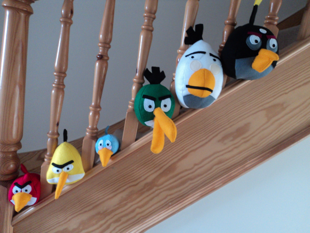 Angry Birds on the stairs