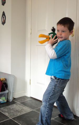 Jack with a green Angry Bird