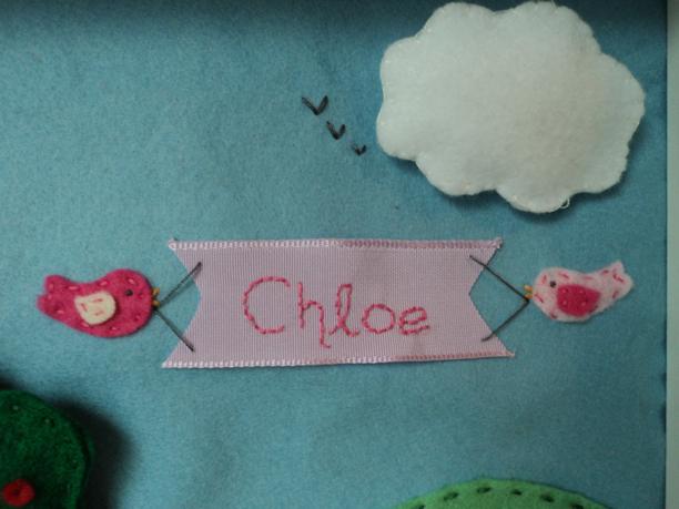 3d Felt Box Frame chloe birds