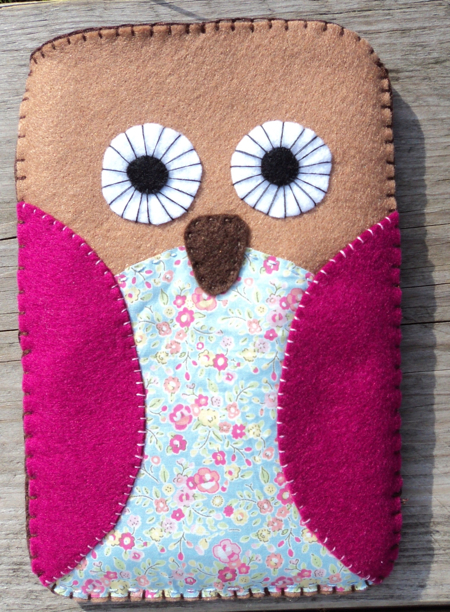 Owl felt kindle cozy