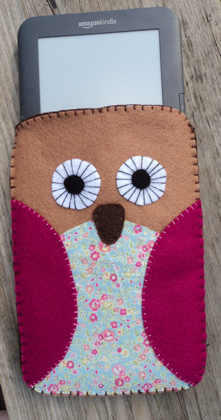 felt kindle cozy owl
