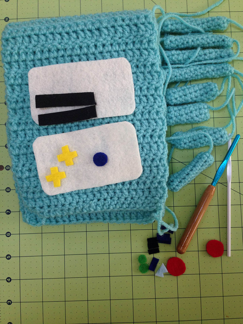 BMO scarf ready to sew