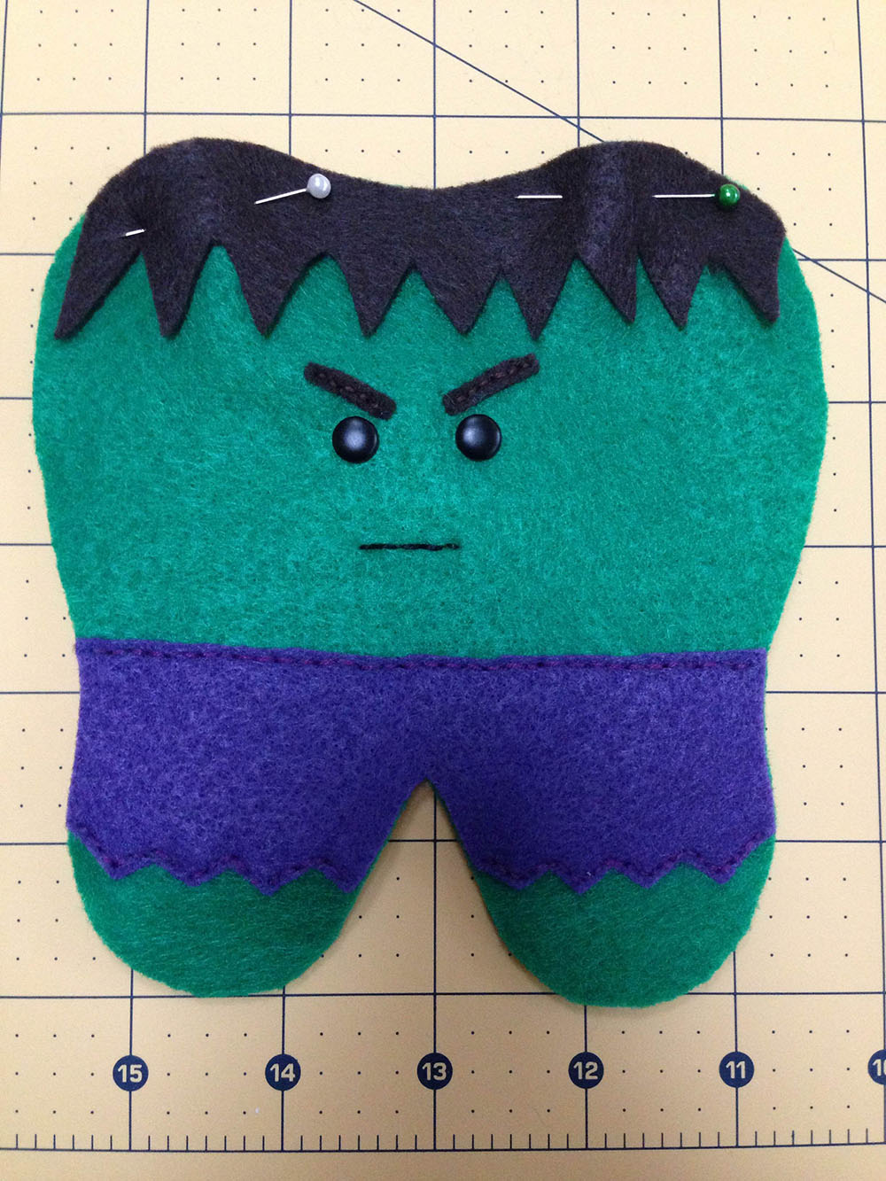 Hulk Tooth Pillow Tutorial