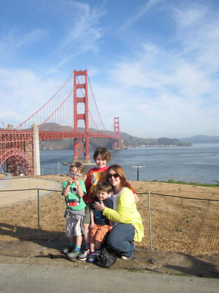 Toby, Jack, Noah & I at the Golden Gate Bridge, San Francisco, California, USA