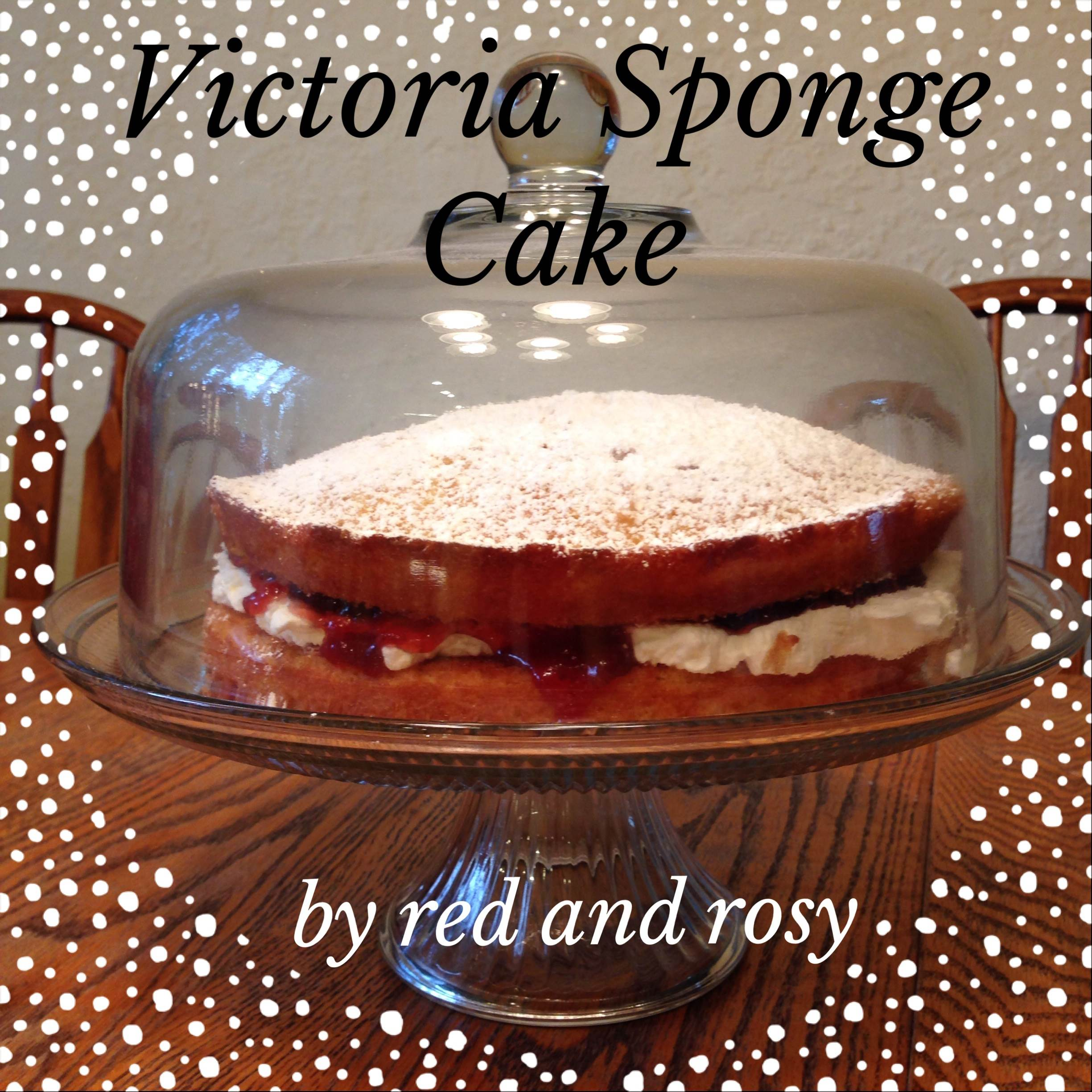 Victoria Sponge Cake by Red and Rosy