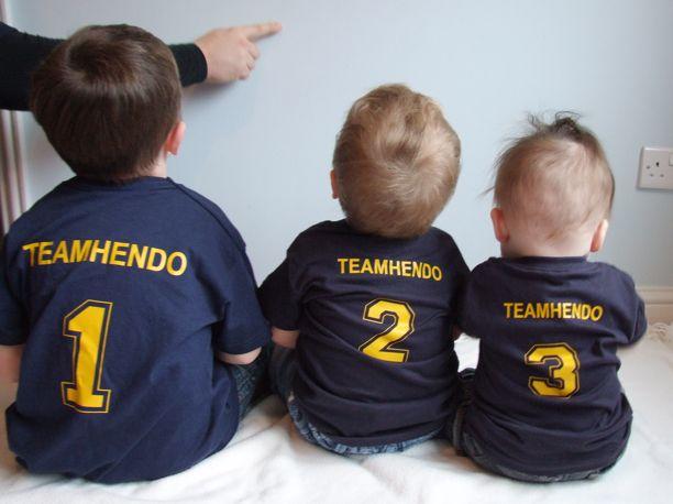 Team Hendo, Jack (1), Toby (2) and Noah (3)